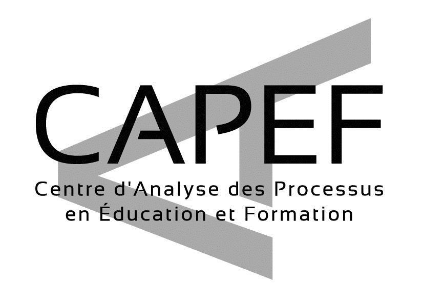 Centre d'Analyse des Processus en Education et en Formation